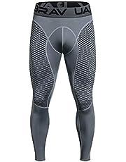 POLP Pantalones de Compresión Mallas Hombre Secado Rápido Transpirable Leggings Alta Elasticidad para Running Yoga Fitness Entrenamiento Correr Gym Reductora Adelgazante