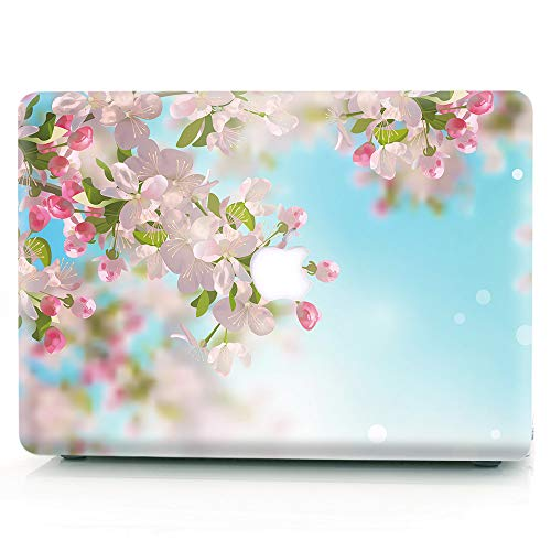 RQTX Case for Older Version MacBook Pro 15 Inch,Creative Pattern Shell Plastic Cover Case for Macbook Pro 15 Inch with Retina Display(Model:A1398),No Touch Bar,Cherry Blossoms
