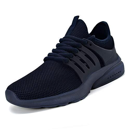 ZOCAVIA Herren Damen Turnschuhe Schuhe Ultraleichte Laufschuhe Atmungsaktive Outdoor Sportschuhe Wanderschuhe Blau (Marine) 47EU