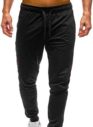 Mens Joggers Pants, Elogoog Clearance Casual Gym Workout Track Pants Comfortable Slim Fit Sweatpants Pockets
