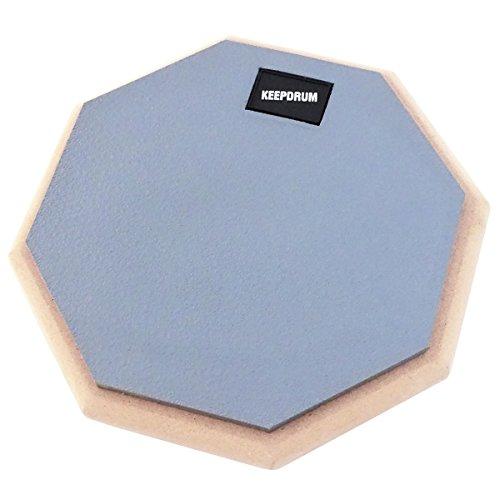 keepdrum DP-GY Practice Pad Grau Schlagzeug Übungspad mit 8mm Gewinde