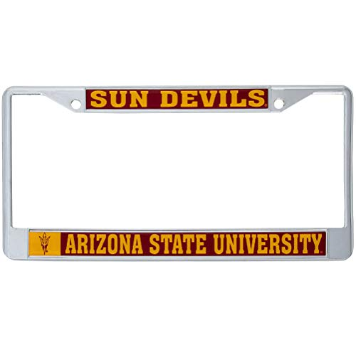 Arizona State University Sun Devils Metal License Plate Frame for Front Back of Car Officially Licensed (Mascot)