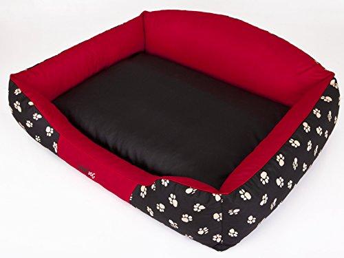 Hobbydog Hundebett Rote Krone XXL 110x85cm Königliche Serie