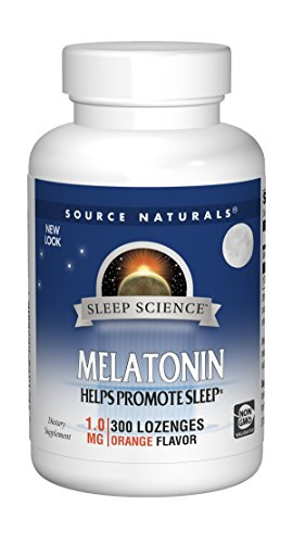Source Naturals Sleep Science Melatonin 1mg Orange Flavor - 300 Lozenges