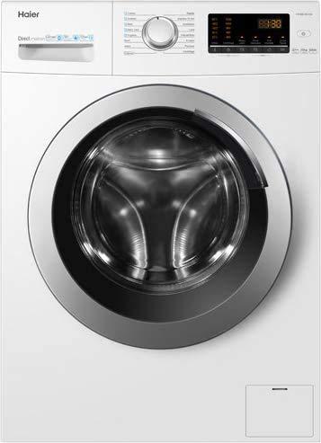Haier HW100-SB1230, Lavatrice 10 kg A+++-40%, Opzione Vapore, ABT Trattamento Antibatterico, Libera installazione