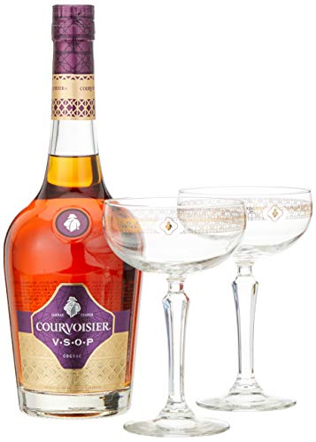 Courvoisier VSOP mit 2 Cocktailgläsern (1 x 0.7 l)