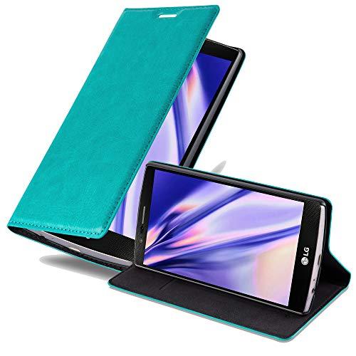 Cadorabo Hülle für LG G4 - Hülle in Petrol TÜRKIS – Handyhülle mit Magnetverschluss, Standfunktion und Kartenfach - Case Cover Schutzhülle Etui Tasche Book Klapp Style