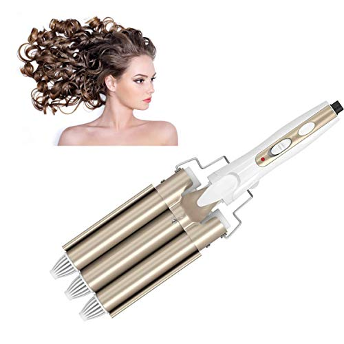 Lockenstab, 3 Dreifache Fässer Lockenwickler Große Wellen Locken Schnelle Heizung Haar Styling Werkzeug für Lange/kurze Haare