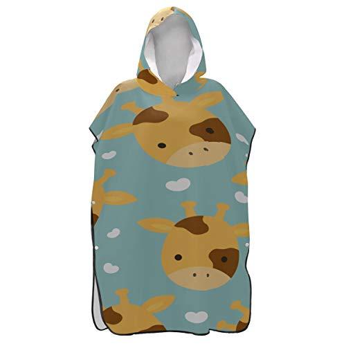 JIUCHUAN Lustige Naturel Cute Wild Animal Kuh Handtuch Poncho Adult Poncho Handtuch Adult Handtuch Poncho Mädchen zum Surfen Schwimmen Baden One Size Fit All