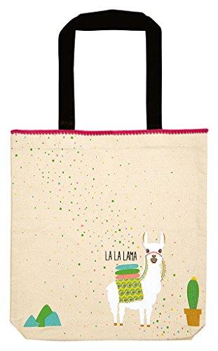 moses. Shopper Lama | Tragetasche aus 100% Baumwolle | Natur