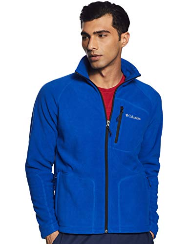 Chaqueta polar Columbia Fast Trek II Full-Zip Fleece para hombre, azul (carbono), Large