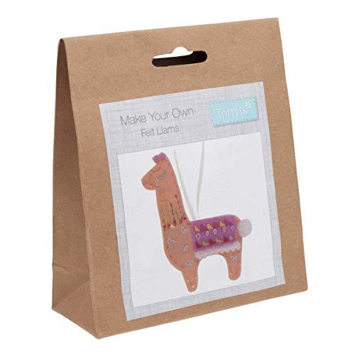 Trimits Felt Christmas Decoration Kit: Llama, Assorted, One Size
