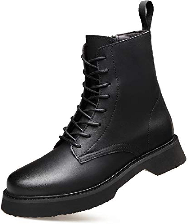 LOVDRAM Men'S shoes Autumn And Winter New Men'S High-Top Men'S shoes Fashion Men'S Martin Boots Retro Fashion Boots