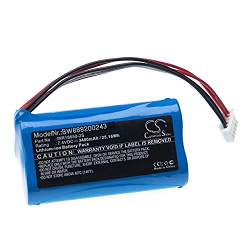 vhbw Batería Recargable Compatible con Philips ShoqBox SB500M Altavoces, Cajas acústicas, bafles (3400 mAh, 7,4 V, Li-Ion)
