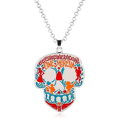 Dongsheng Coco Miguel Riveras Collar Esqueleto Colgante Collar Hombre Y Mujer Cosplay Halloween Regalos De Navidad