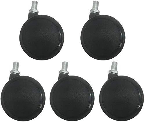 4 ruedas giratorias de servicio pesado,4 ruedas giratorias pequeñas con tornillos Ruedas de servicio pesado Ruedas giratorias Ruedas de goma,para muebles Andamios de silla de oficina,roscado-60 mm