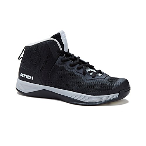 AND1 Men's Fantom Basketball Shoe,Stretch Limo/Stretch Limo/Silver,US 8 M