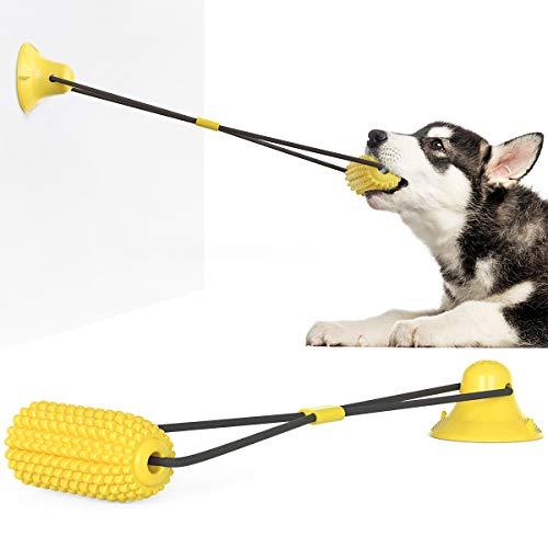Ergouzi Hundespielzeug Hund Zahnbürste Hund Kauspielzeug Unzerstörbar Welpe und Big Dog Bite Toys - Naturkautschuk Hund Zahnreinigung Spielzeug