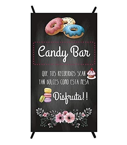 Cartel Candy bar | cartel para bodas | cartel decorativo mesa dulce | cartel mesa dulce comunión | cartel bautizo | cartel boda | cartel comunión ✅