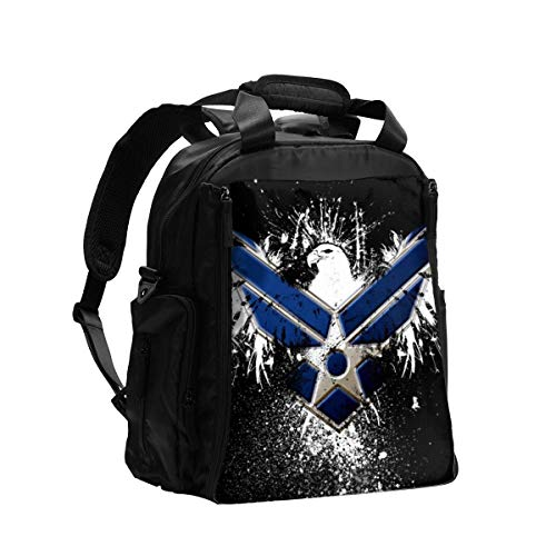 Us Military Air Force Diaper Bag Backpack Nappy Bags Waterproof Mommy Bag, Large Capacity Multifuction Baby Bags,Sturdy and Durable use in Outdoor Travel Shcool