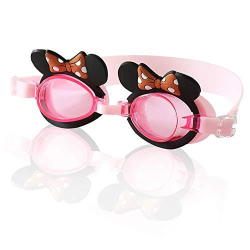 CYSJ Gafas de Natación, Protección Anti-Vaho Protección Sin Filtraciones Visión Clara Fáciles, Totalmente Ajustable para Hombres Mujeres y Niños - Rosa