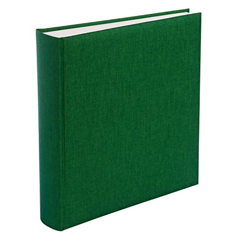 goldbuch 31806 Fotoalbum Summertime Trend, 30 x 31 cm, Fotobuch mit 100 weiße Seiten & Pergamin Trennblättern, Foto Album aus Leinen, Erinnerungsalbum, Dunkelgrün