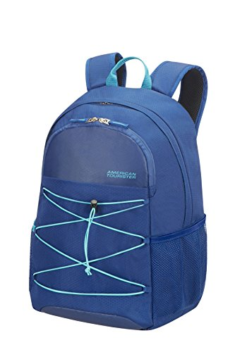 """American Tourister Road Quest Backpack Medium for 15.6"""" Laptop Zaino Casual, 48 cm, 28 liters, Blu (Deep Water Blue)"""