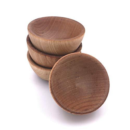 Lamson TreeSpirit Condiment Cups, 2-1/2' x 1-3/8', Set of 4, North American Hardwood