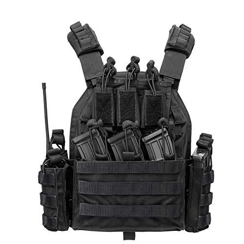 vAv YAKEDA Outdoor Tactical Military Vest Airsoft Vest for Men (Black-A)