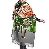 shenguang Bufanda de invierno para mujer Cashmere Feel Retro Old Orange Tv Set Receptor Bufandas Chal elegante Abrigos Manta suave y cálida Bufandas para mujer