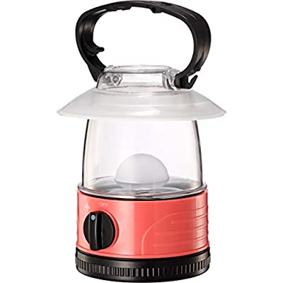 ZZD Mini LED Camping Lantern Lights, 4 AA Battery Powered Pink Kids Small Lightweight Flashlight Lantern for Hiking, Emergencies, Storms, Outdoor Lantern, 7 Color Glitter