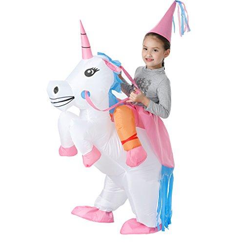 YEAHBEER Unicorn Costume Inflatable Suit Halloween Cosplay Fantasy Costumes ( Kids Unicorn)