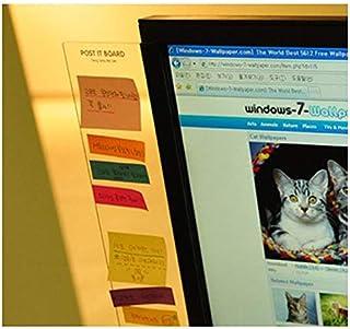 2 ピース/セットコンピュータ Moniter サイドメモパッドボード透明プラスチック高品質のオフィス学用品