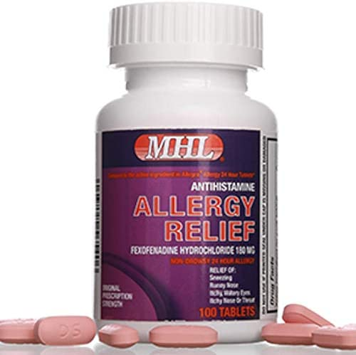 Allergy Relief Fexofenadine HCl 180 mg Non Drowsy Antihistamine 100 Count Tablets product image