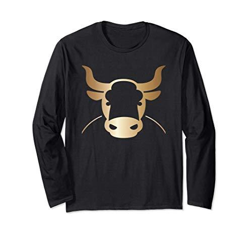 Cadeau du Nouvel An chinois du boeuf 2021 8 Bull Art Taurus Manche Longue