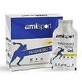 AMLsport - Magnesio total – 12 sobres de 20 ml (sabor limón) disminuye el cansancio y la fatiga, mejora el funcionamiento de músculos, huesos y sistema nervioso. Apto para veganos.