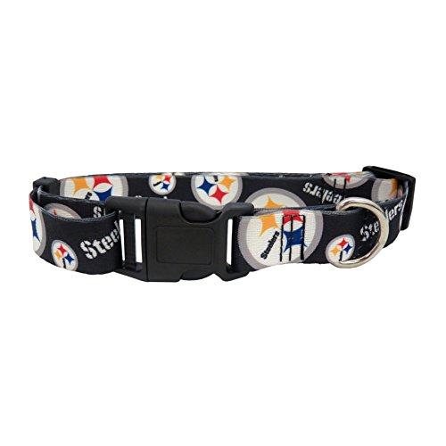 Littlearth NFL Pittsburgh Steelers Team Pet Collar, Medium,black