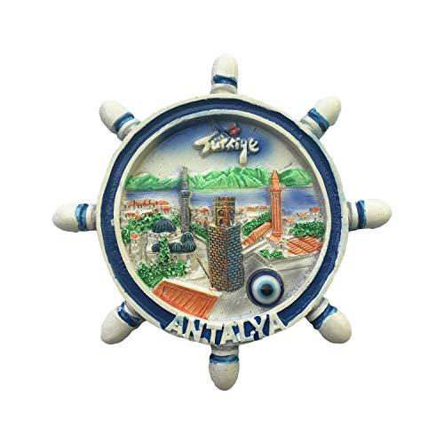 Antalya Türkei 3D Ruder-Kühlschrankmagnet, Reiseaufkleber, Souvenirs, Heim- und Küchendekoration, Türkei-Kühlschrankmagnet aus China