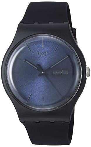 Swatch Black Rebel Mens Watch SUOB702: Watches