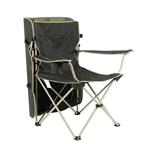 HAHEZDY Sonnenschirm Stuhl Angeln Klappstuhl Mit Armlehne Leichte Tragbare Outdoor Praktisch Robust, Schwarz