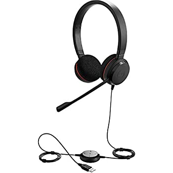 Jabra Evolve 20 UC Stereo Wired Headset / Music Headphones  U.S Retail Packaging  Black