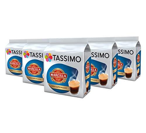 TASSIMO Marcilla Café Descafeinado - 5 paquetes de 16 cápsulas: Total 80...