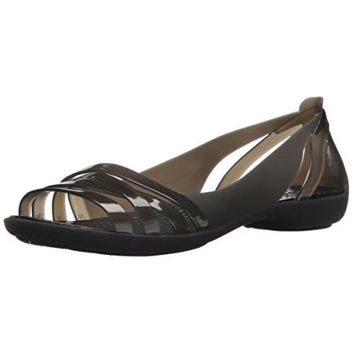 Crocs Isabella Huarache 2 Flat W, Sandal Donna, Nero (Black/Black 060), 34/35 EU