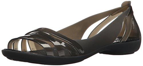 Crocs Damen Isabella Huarache Ii Flat Women Peeptoe Ballerinas, Schwarz (Black 060), 42/43 EU