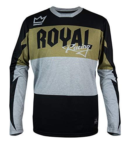 Royal Racing RACE Maillot Mixte Adulte Vert Olive/Noir Chiné FR : L (Taille Fabricant : L)
