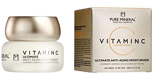 Pure Mineral Anti-Aging Feuchtigkeits Creme mit Vitamin C und Totes Meer Mineralien Bekämpft Falten...