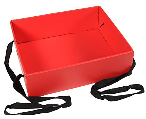 Beistle Cigarette Girl Party Tray Snack and Beverage Carrier – 20's Theme Costume Accessory Prop, 4' x 11' x 13', Red/Black