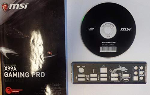 MSI X99A Gaming Pro Carbon Ver.1.0 - Handbuch - Blende - Treiber CD