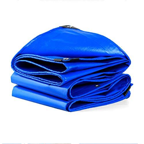 CUIS Blaue, Dicke Plane für den Außenbereich, Sonnenschutzplane aus PE-Kunststoff, Dachabdeckung für den Gartenbalkon, Pickup in verschiedenen Größen, 180 G/m² (Size : 4mx4m)