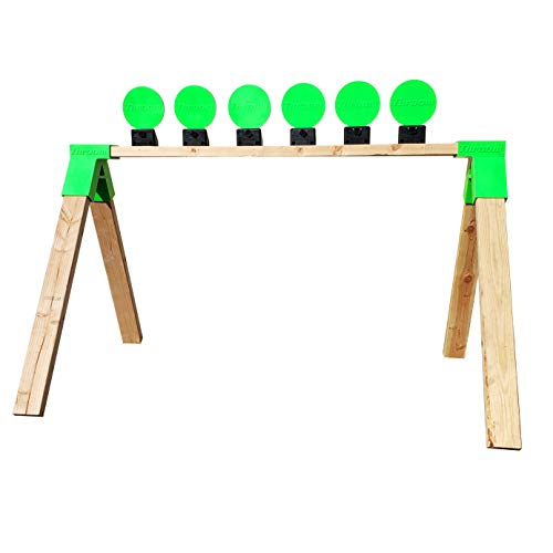THROOM 6' Knockdown Self-Healing, Reactive, Ricochet-Free Shooting Targets (Set of 6 with Stand Brackets)